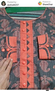 Best 12 Slim-fit long-sleeve thick stretchy cotton dress finished with cotton ribbon. Churidhar Neck Designs, Neck Designs For Suits, Neckline Designs, Sleeves Designs For Dresses, Stylish Dress Designs, Blouse Neck Designs, Salwar Suit Neck Designs, Churidar Designs, Kurta Neck Design