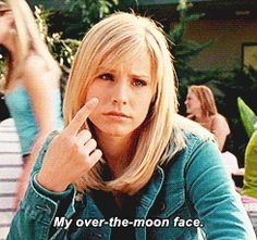 How Veronica Mars would respond to the movie's release date news, in GIF form