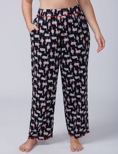 Alpaca Knit Sleep Pant with Buttons