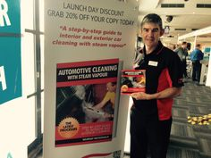 Automotive Cleaning with Steam Vapour book launch at Etihad Stadium, Melbourne, Australia