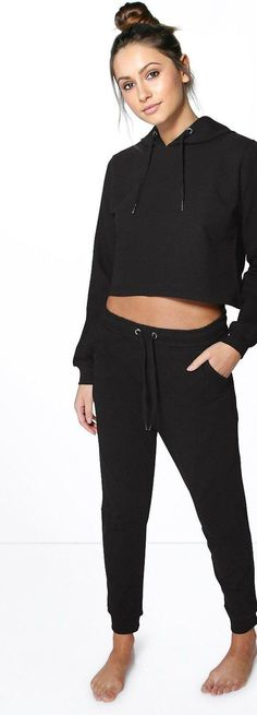 Sophie Crop Hoodie And Jogger Lounge Set - Loungewear  - Street Style, Fashion Looks And Outfit Ideas For Spring And Summer 2017
