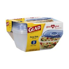 GladWare Deep Dish Food Storage Containers, 64 Ounces, 3 Count ❤ liked on Polyvore featuring home and kitchen & dining