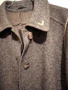 Vintage Scarf, Blouse Vintage, Vintage Shirts, Cotton Blouses, Wool Coat, Dress Me Up, Grey, Sleeve, Products