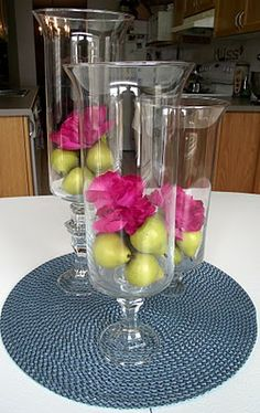 DIY Hurricane Vases...using candlesticks/vases