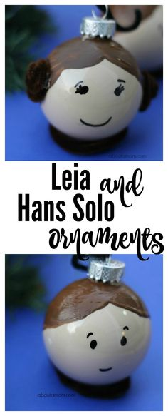 Leia and Hans Solo ornaments for the Star Wars geek in you.