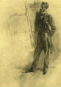 Paul Helleu: Portrait by Giovanni Boldini, 1895-1897   (www.helleu.org)
