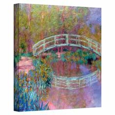 Add museum-worthy style to your dining room or master suite with this inspiring canvas print of Claude Monet's Japanese Bridge.   Product: Wall artConstruction Material: CanvasFeatures:  Made in the USAReady to hang