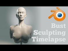 Bust Sculpting Timelapse in Blender - YouTube