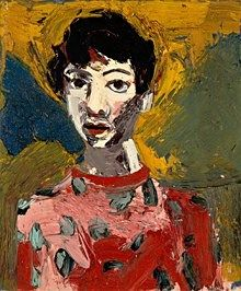 'Portrait of Lupe' by American painter Joan Brown (1938-1990). Oil on canvas, 30.125 x 25.25 in. collection: Oakland Museum of California. via Abby Wasserman