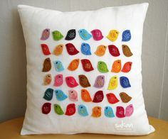 A-dorable birdie pillow.  Easy to make!