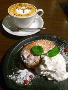 expresso coffee、chiffon cake