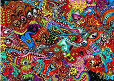 Psychedelic art color detail dark monsters wallpaper | 2339x1656 | 29363 | WallpaperUP