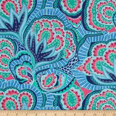 Amy+Butler+Hapi+Oasis+Azure from @fabricdotcom  Designed+by+Amy+Butler+for+Rowan/Westminster+Fabrics.+This+fabric+is+perfect+for+quilting,+apparel+and+home+decor+accents.+Colors+include+light+blue,+navy,+ivory,+turquoise+and+hot+pink.