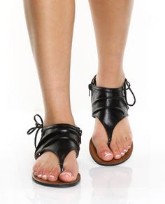 sandles-these would go great with the new black leather and grey cotton tank I just got....