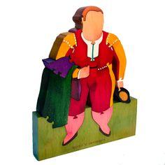 """Rompecabezas en madera con un fragmento de la obra """"Matador"""" del Maestro Fernando Botero, parte de la colección del Museo de Antioquia. Lo puedes encontrar en: http://tienda.museodeantioquia.co/producto/rompecabeza-matador/"""