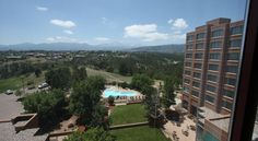 Colorado Springs Marriott Colorado Springs This Colorado Springs hotel is 8.5 miles from the United States Air Force Academy. The hotel features both an indoor and outdoor pool. Rooms include 32-inch, flat-screen TVs.
