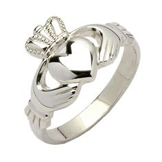 Ladies Traditional Silver Claddagh Ring - Claddagh Rings - Rings from Ireland.The Claddagh is the quintessential Irish symbol of love, traditionally given as a token of love and friendship.  The way in which the ring is worn indicates the wearers relationship status.