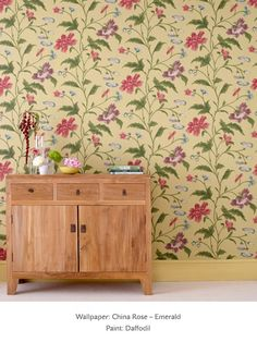 Little Greene's China Rose wallpaper design, from the Oriental Wallpaper Collection
