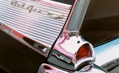 Cheryl Kelley�s Classic Muscle Cars Paintings OMG...they are more real than photographs. The only time I see that they are paintings is when there is a human image in there.... but WOW.. such talent!