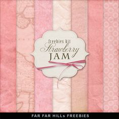 New Freebies Kit of Backgrounds - Strawberry Jam