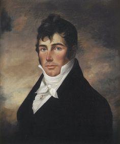 A portrait of Captain Elias Davis, Sr. painted c.1790 by an unknown Antwerp artist.