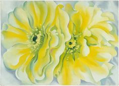 Yellow Cactus by Georgia O'Keeffe, 1929 #Painting #IMA