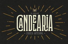 "Graphic design for a new peruvian craftbeer ""Candelaria""Designed by… Typeface Font, Typography Fonts, Graphic Design Typography, Future Logo, Logos, Logo Branding, Brand Identity Design, Branding Design, Typography Inspiration"