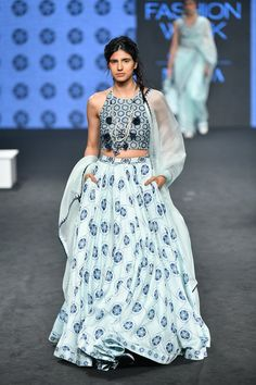 Check out the latest collection by Punit Balana showcased at the Lakme Fashion Week Summer/Resort 2019 India Fashion Week, Lakme Fashion Week, Fashion Weeks, Embroidery Fashion, Embroidery Dress, Indian Embroidery, Indian Designer Outfits, Designer Dresses, Indian Designers