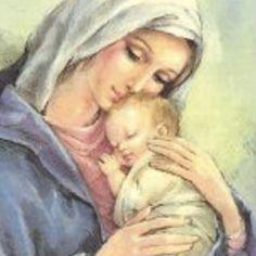 Catholic Prayers, Catholic Art, Religious Art, Blessed Mother Mary, Blessed Virgin Mary, Vintage Holy Cards, Christian Images, Mama Mary, Sainte Marie