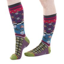 Roccoco women's silly cotton dress socks designed in France by Dub & Drino