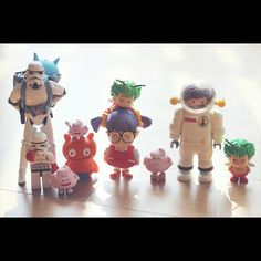 명절엔 가족과... #family #stormtrooper #doctorslump #arare #uglydoll #wage #playmobil #astronaut #toy #joy