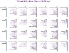 Join in on the Velvet Rider June Fitness Challenge for riders! Click on the calendar for more details!