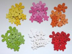 12 Holz-Streu-Blumen - Streu-Blüten - Tisch-Dekoration - Streu-Deko - Streuteile Ebay, Table, Wood, Decorations