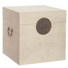 Square Chinese Trunk, Wood