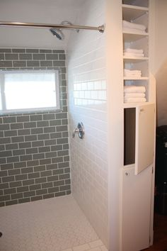Love the idea of a laundry chute from family bathroom to utility underneath!