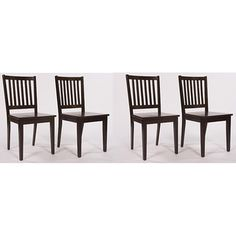 Rubberwood dining chairs in espresso. Set of 4 $139.99