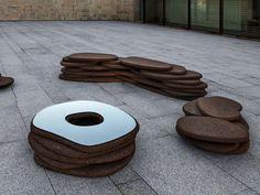 MRS. ROCHA Mesa para espaços públicos by Movecho® design Alzira Peixoto, Carlos Mendonça