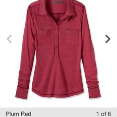 Prana Besha top-XS-plum red-NWTS Brand new. Perfect knit style Henley. prAna Tops Button Down Shirts