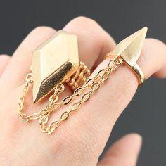 PWB3149 - Link diamond shape ring set