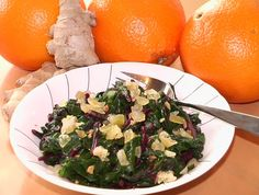 Gingered Beet Greens in Orange Sauce Sauteed Beet Greens, Green And Orange, Orange Juice, Greens Recipe, Side Dishes Easy, Clean Recipes, Beets, Superfood, Spinach