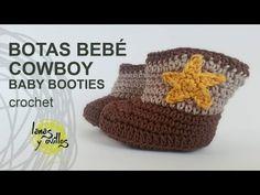 Botita vaquera tejida a crochet parte 1 - YouTube