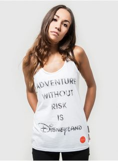 """""""Adventure without risk is Disneyland."""" Travel quote by Douglas Coupland."""
