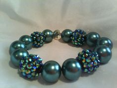 Green+shinyblingybeaded+Faith+bracelet+by+simplysparkalee+on+Etsy,+$12.00
