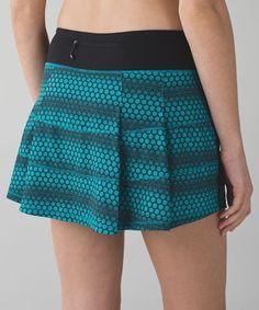 Lululemon Pace Rival Skirt II (Tall) *4-way Stretch - Stardust Geo Peacock Blue Black / Black.  sz 6 Tall