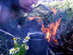 Coffee boiling in the hills of the Galilee #Israel