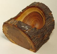 Lynne Yamaguchi, Woodturner -- Mesquite log bowl