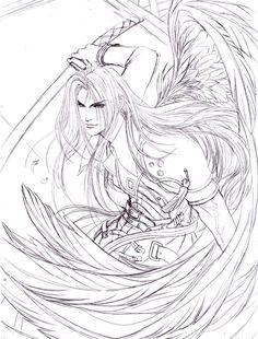 Sephiroth: Glory falls by jiuge.deviantart.com on @deviantART
