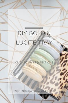 DIY Gold lucite tray