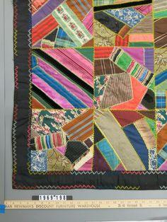 Crazy quilt | Hibbard Family (Maker) | 1969.198 -- Historic New England