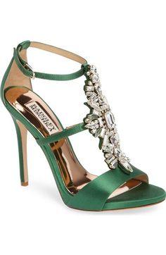 Badgley Mischka Basile Crystal Embellished Sandal (Women) available at #Nordstrom